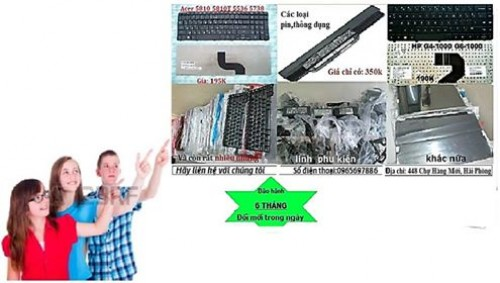 Thay thế bàn phím laptop tại nhà tại Hải Phòng