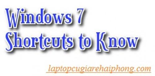 Hướng dẫn sử dụng các phím tắt trong Windows 7